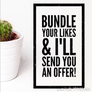 Bundle your likes and I'll make an offer!